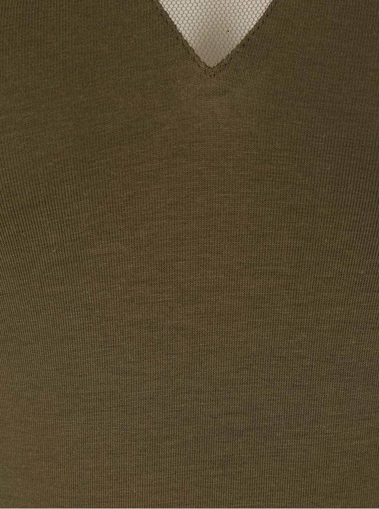 Olivové body s 3/4 rukávom TALLY WEiJL