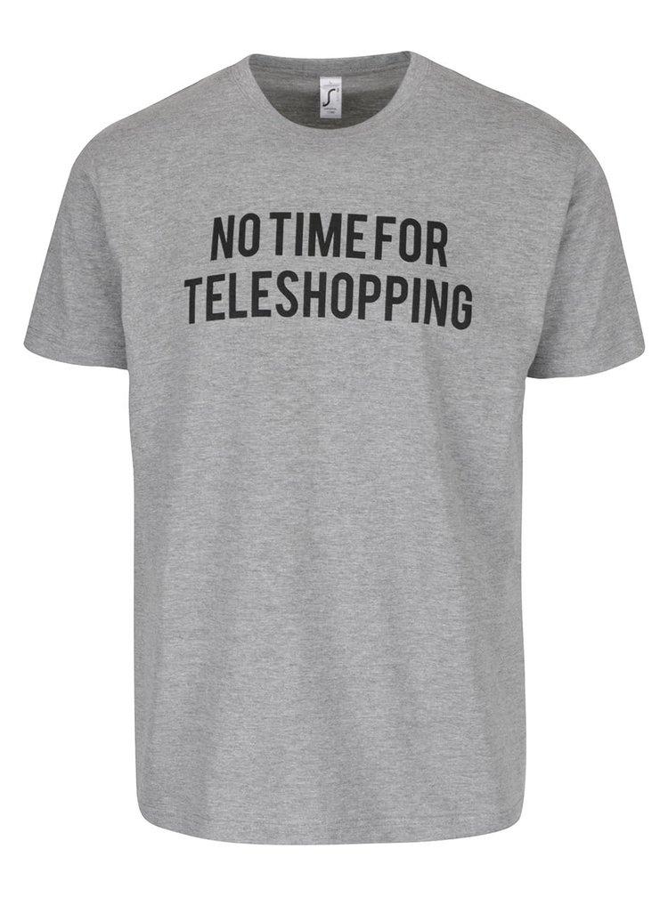 Tricou de bărbați ZOOT Original No time for teleshopping gri