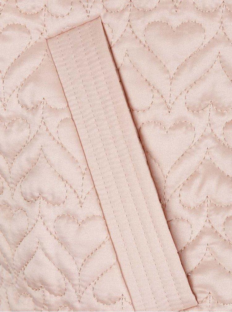 Jacheta bomber roz pal cu model matlasat Dorothy Perkins