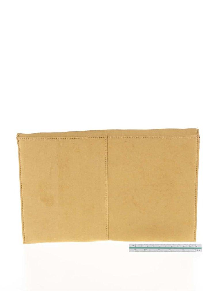 Žluté psaníčko v semišové úpravě Dorothy Perkins