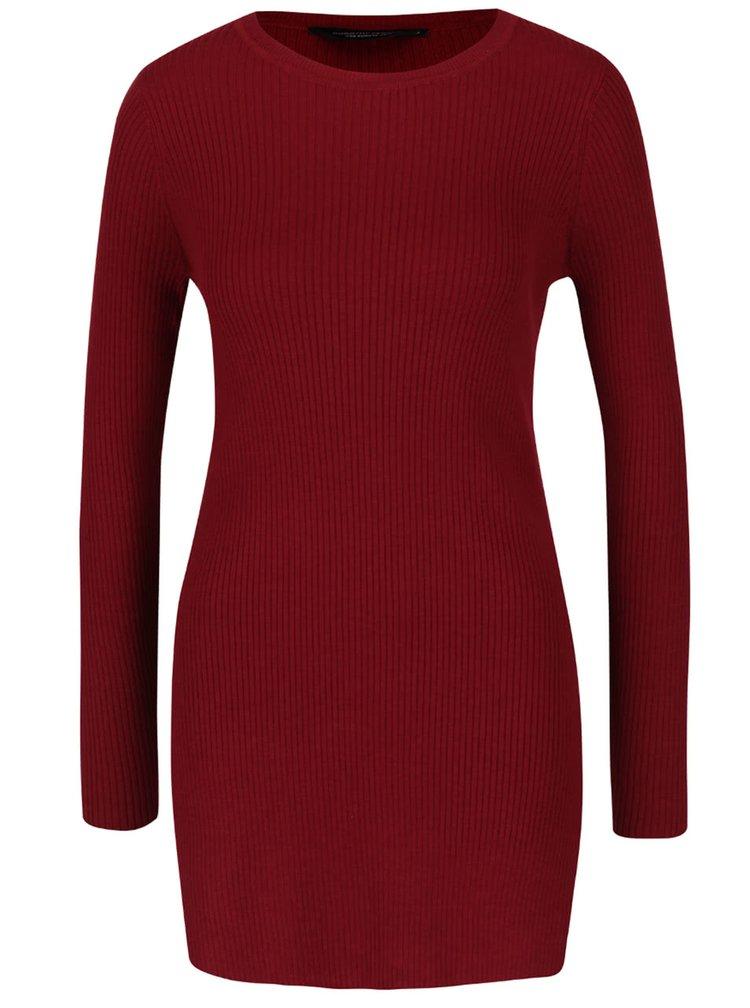 Červený žebrovaný svetr Dorothy Perkins