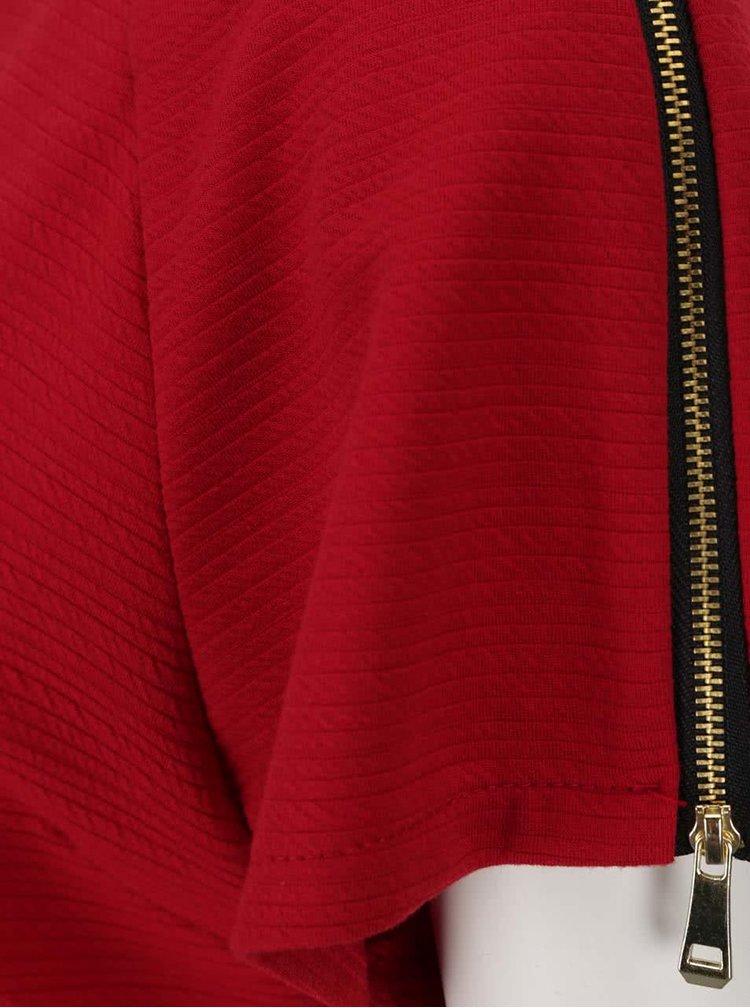 Červené šaty se zipy na ramenou Apricot