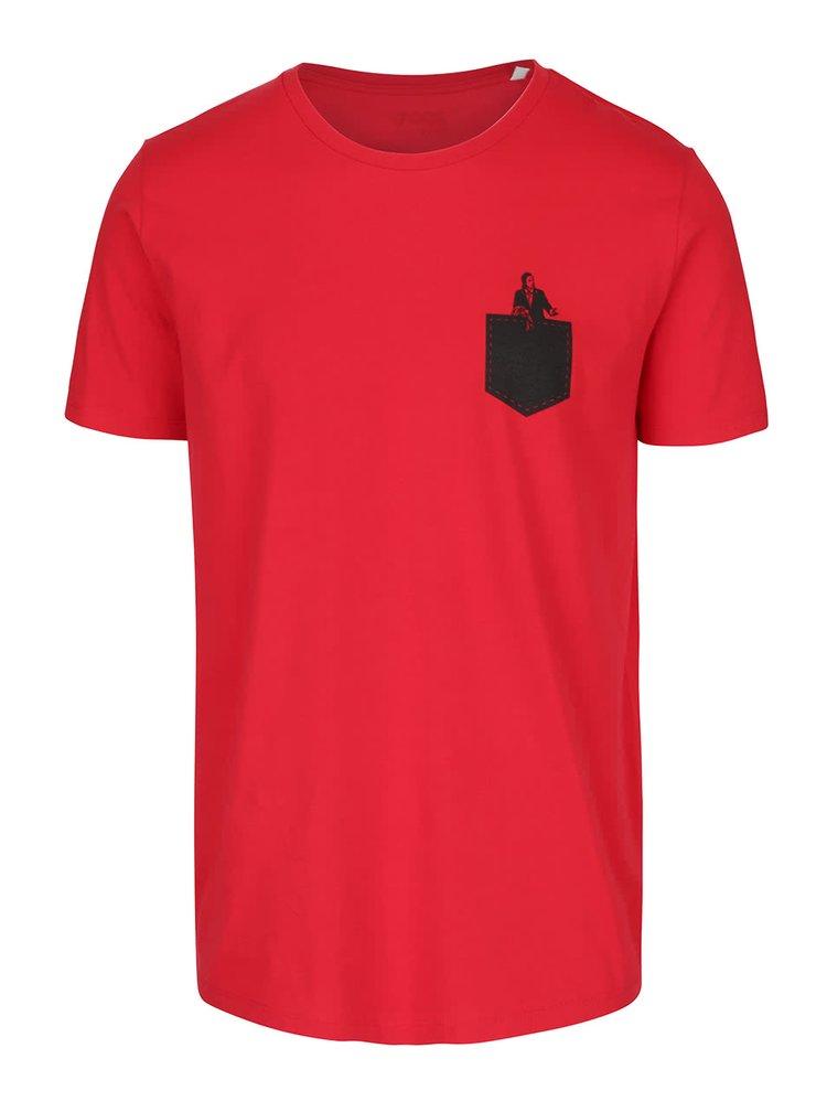 Červené pánské tričko ZOOT Originál V kapse