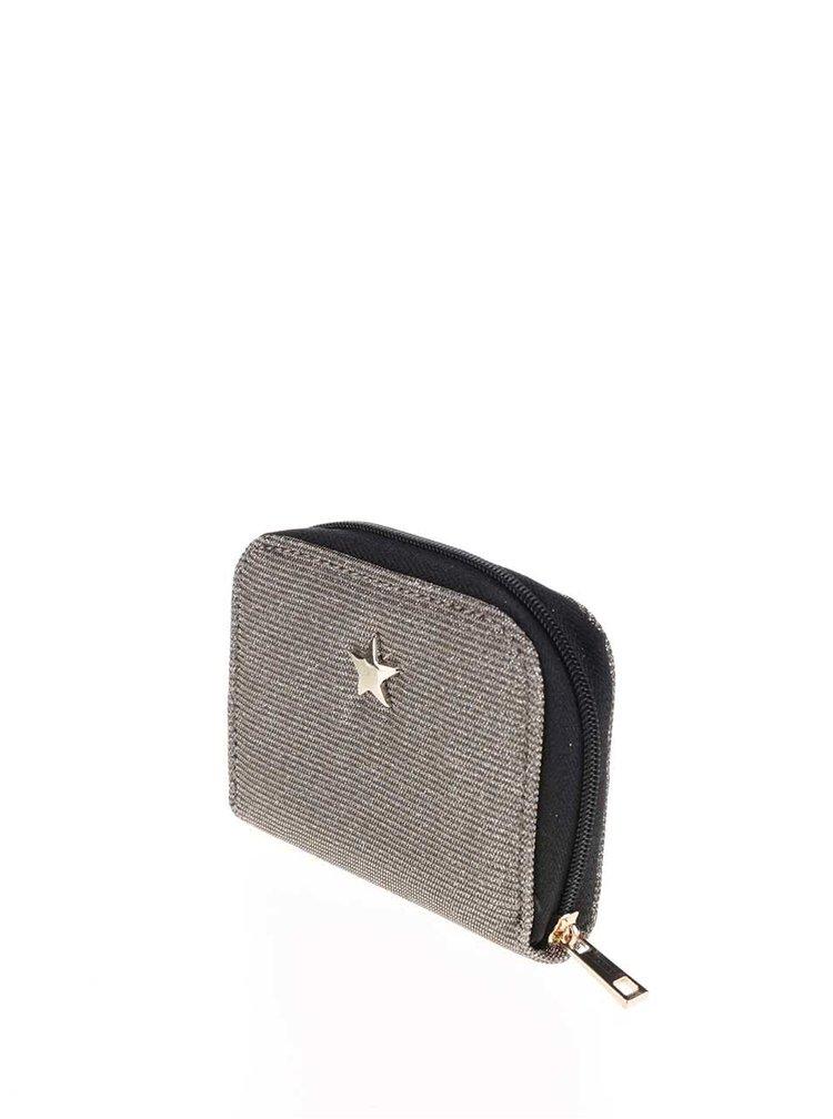 Třpytivá peněženka ve stříbrné barvě Dorothy Perkins