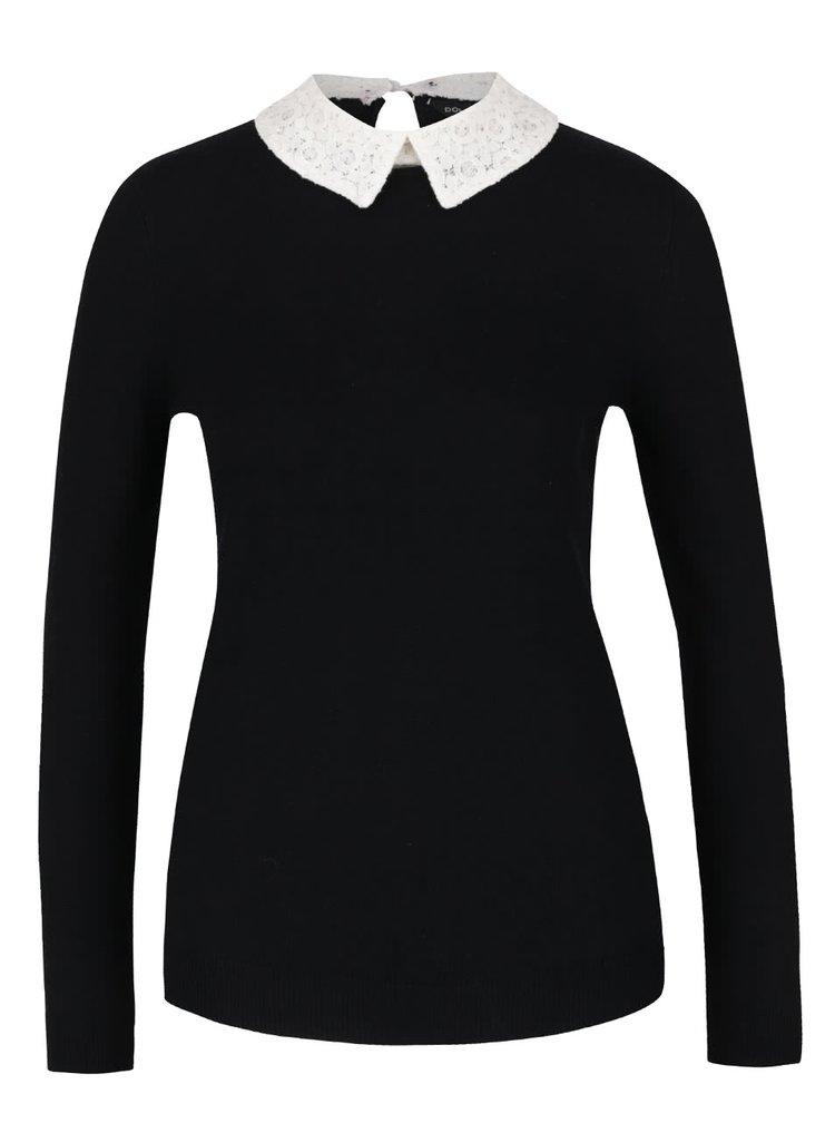Černý svetr s límečkem Dorothy Perkins