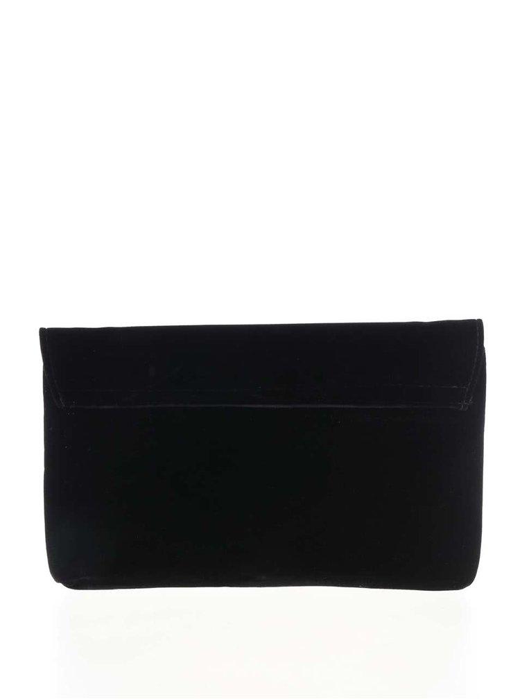 Čierna semišová listová kabelka s retiazkou Dorothy Perkins