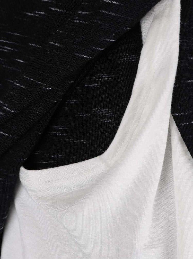 Čierno-biely tehotenský/dojčiaci melírovaný top Dorothy Perkins Maternity