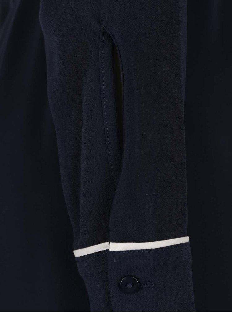 Tmavomodré košeľové šaty s opaskom Dorothy Perkins