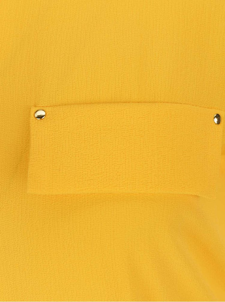 Žluté košilové šaty Dorothy Perkins