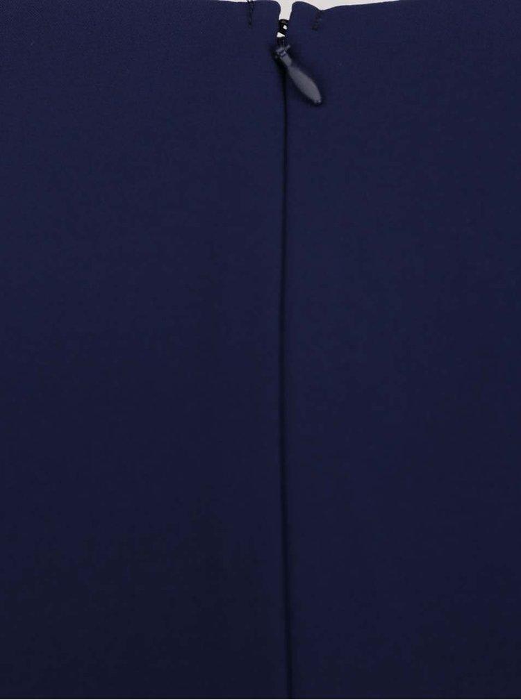 Tmavě modré šaty s flitrovanými detaily v pase Little Mistress