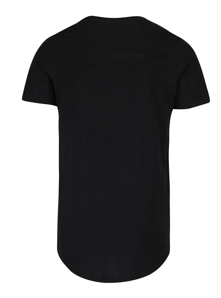 Tricou negru Jack & Jones Testament din bumbac cu print