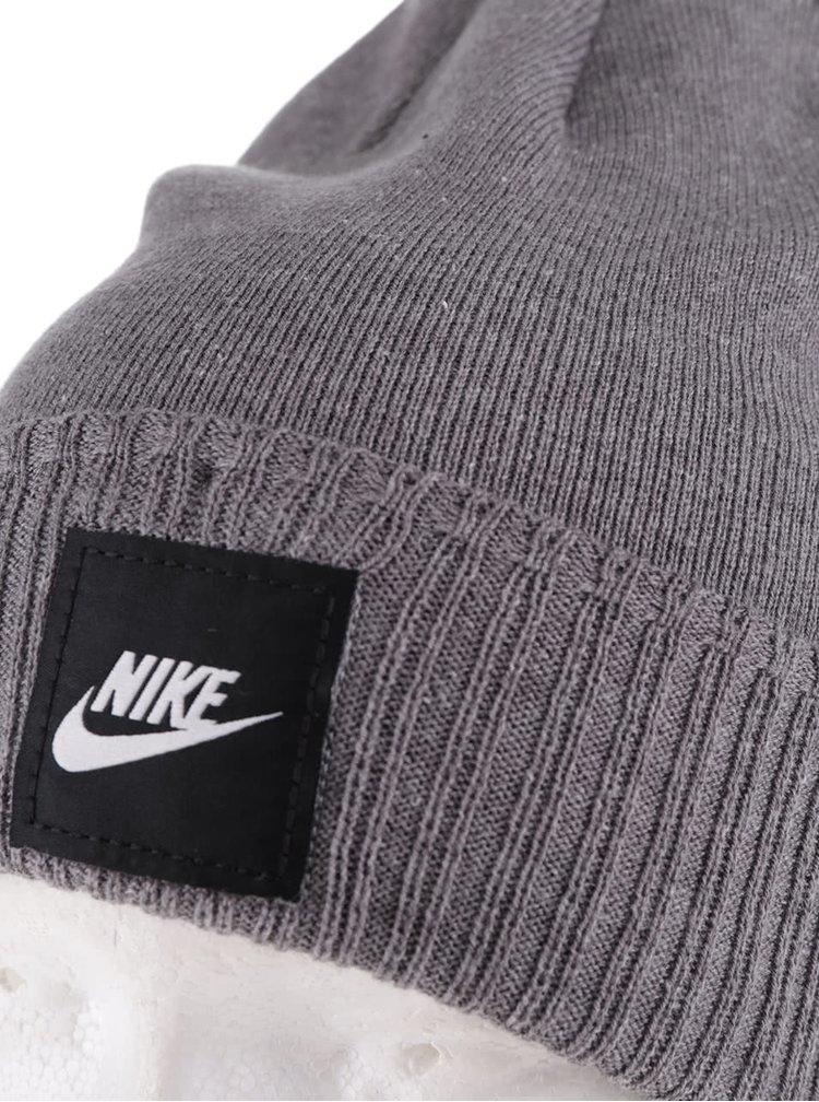 Šedá pánská čepice s logem Nike Futura