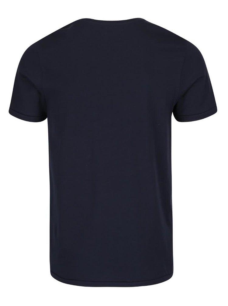 Tmavě modré triko s potiskem Jack & Jones Custom