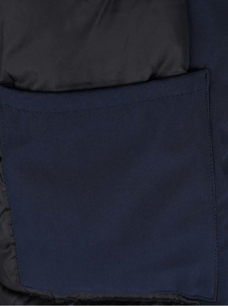 Tmavě modrá parka s umělým kožíškem Jack & Jones Follow