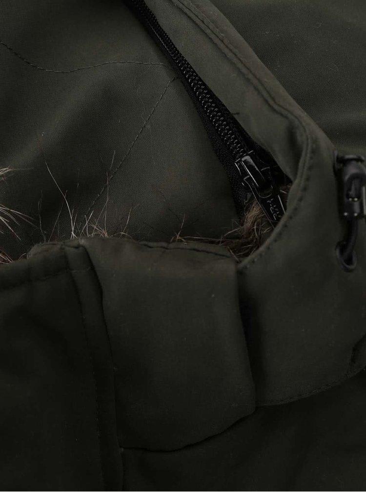 Jachetă verde închis Jack & Jones Follow cu glugă