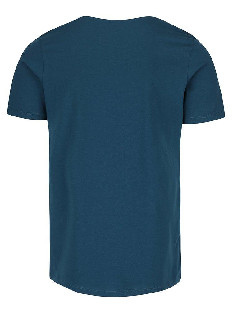 Modré triko s potiskem Jack & Jones Buh