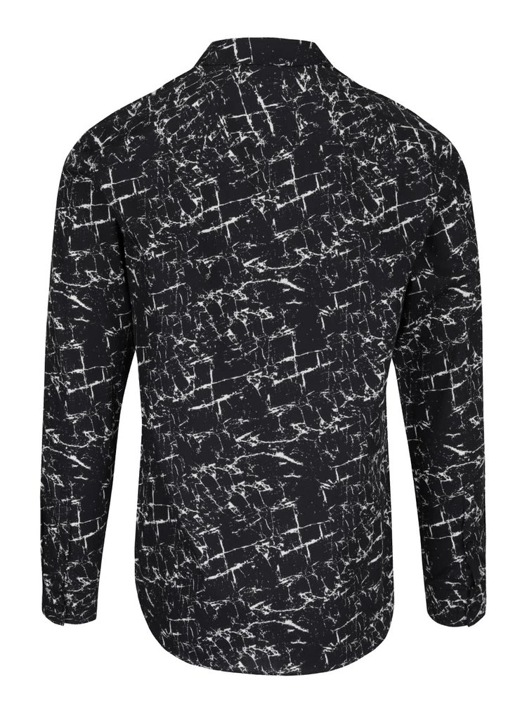 Černá vzorovaná slim fit košile Jack & Jones Marble
