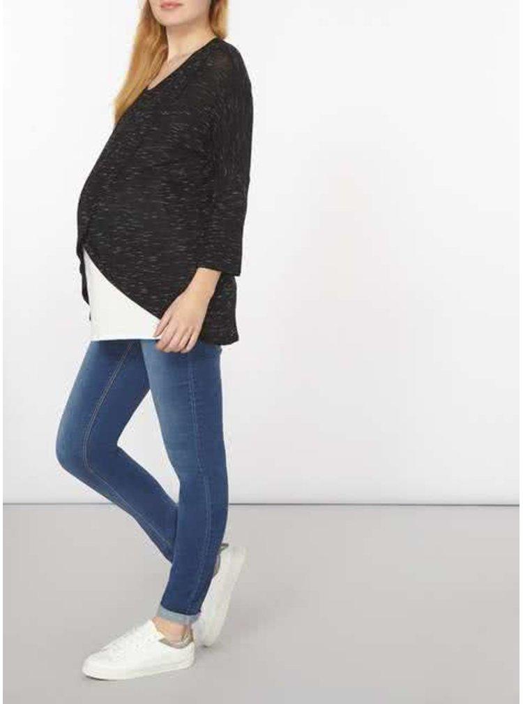 Bluză negru cu alb pentru gravide Dorothy Perkins Maternity