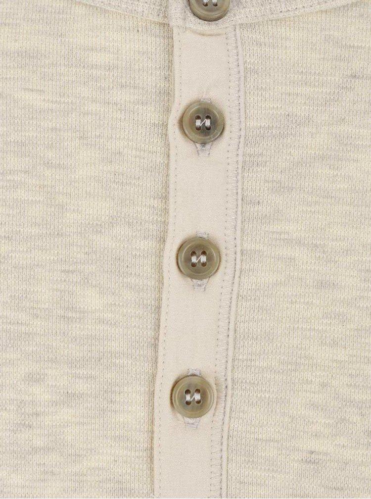 Krémové žíhané triko s dlouhým rukávem Jack & Jones Giovanni