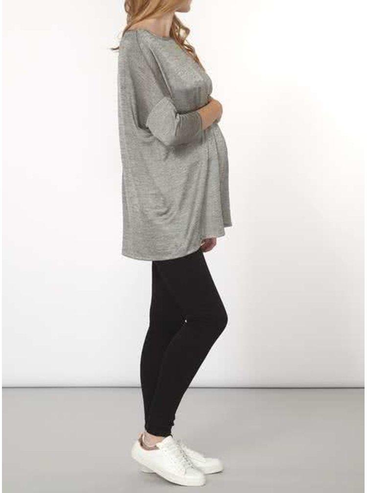 Šedý žíhaný těhotenský oversize top Dorothy Perkins Maternity