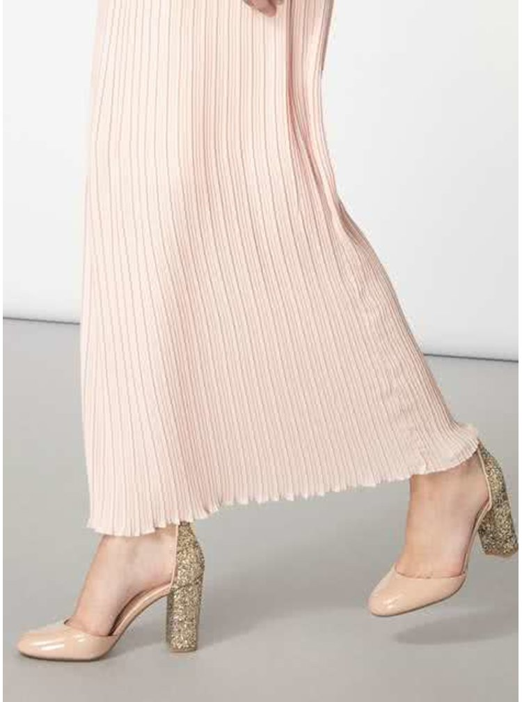 Fusta lunga plisata roz prafuit Dorothy Perkins