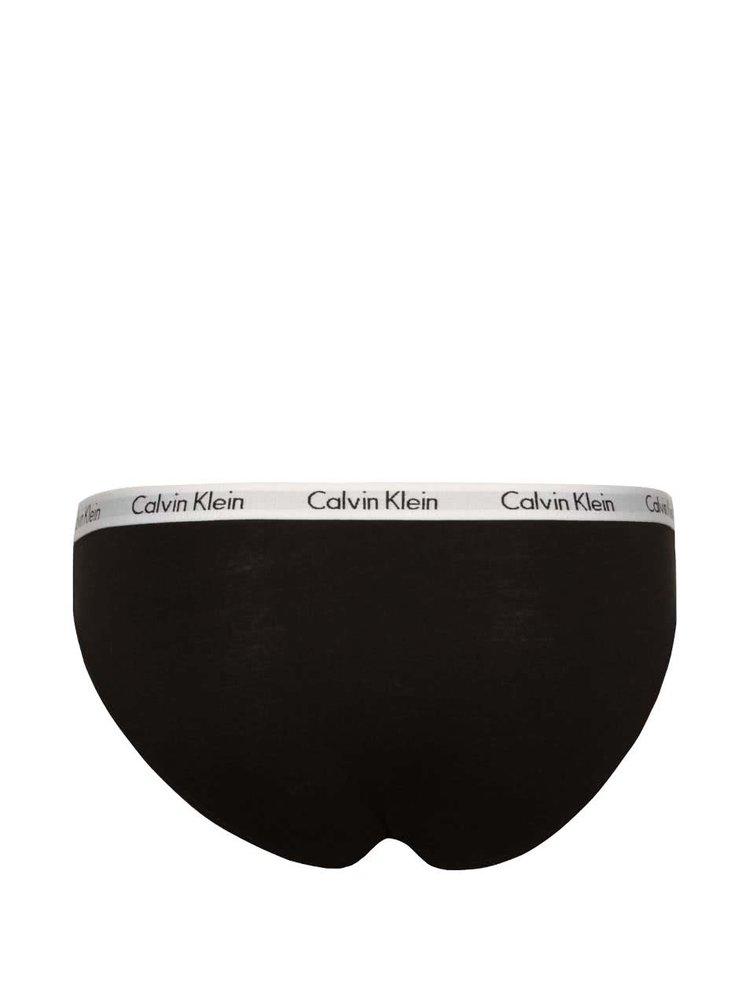 Sada tří kalhotek v černé a bílé barvě Calvin Klein