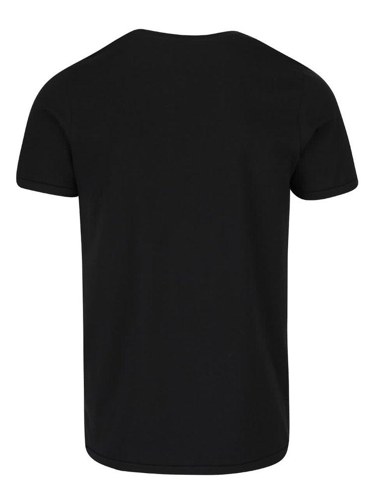 Černé triko s potiskem Jack & Jones Custom