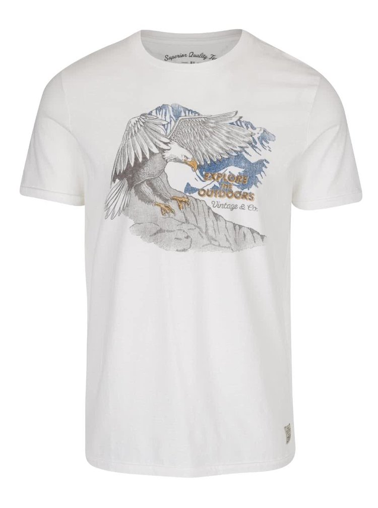 Krémové triko s potiskem Jack & Jones Custom