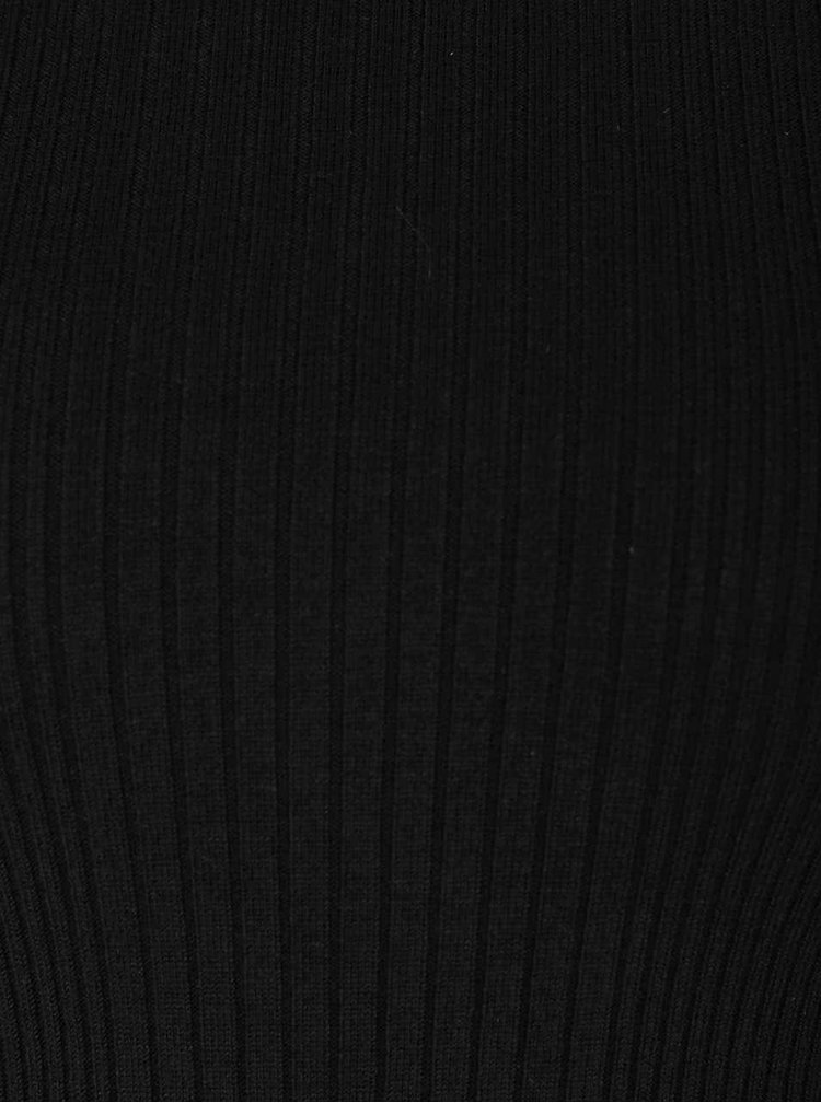 Čierny tenký rolák s dlhými rukávmi Miss Selfridge