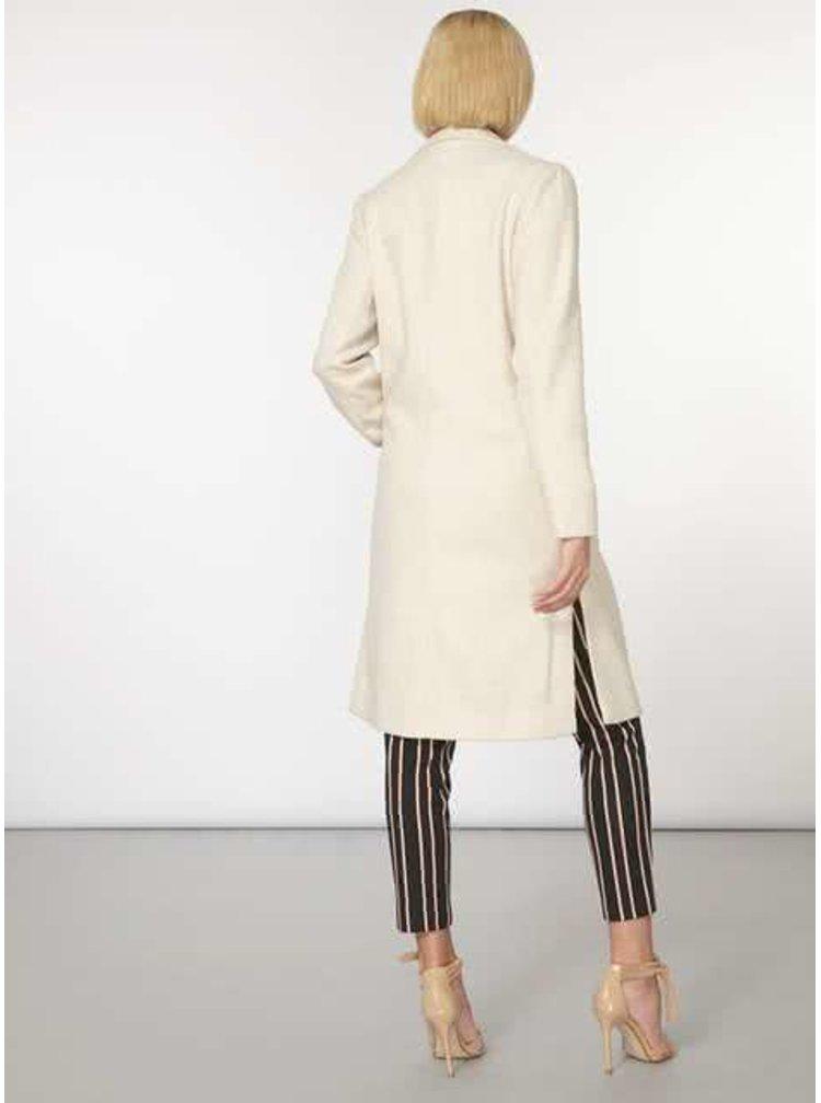 Krémový kabát s opaskom a vreckami Dorothy Perkins