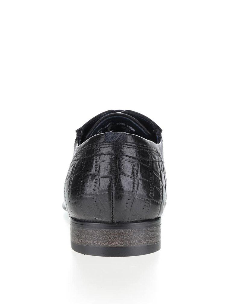 Černé pánské kožené polobotky bugatti Lunas