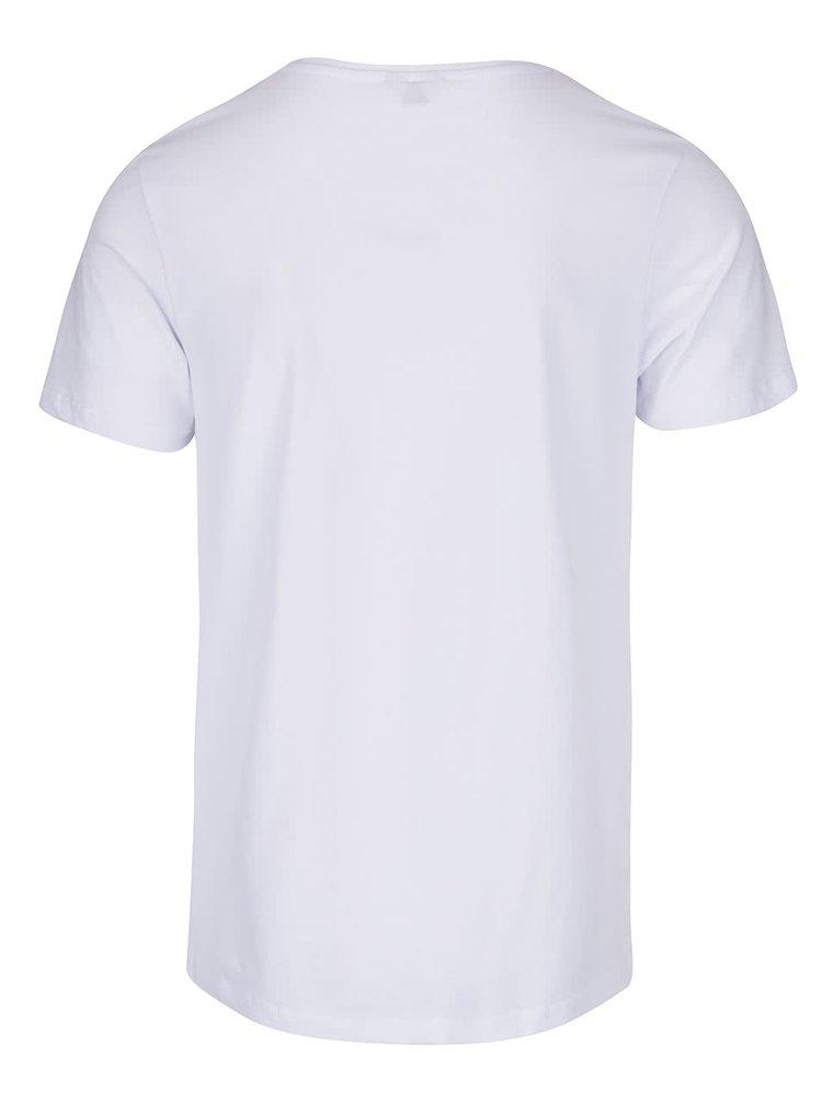 Bílé triko s potiskem Jack & Jones Buh