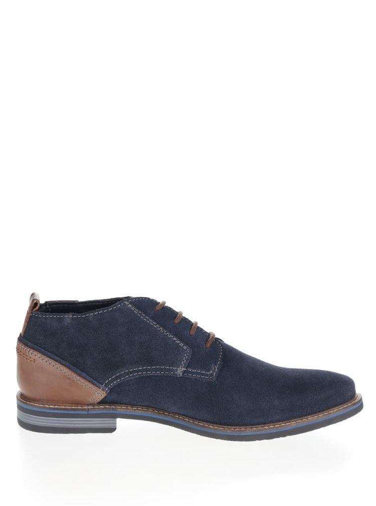 Pantofi albastri din piele intoarsa bugatti Vanity Evo pentru barbati
