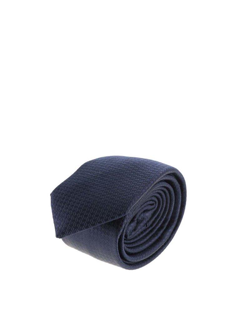 Cravata albastru inchis Jack & Jones Premium Toronto cu model discret