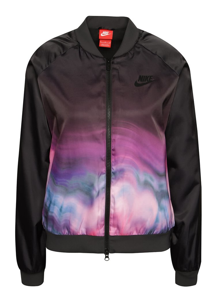 Černý dámský bomber s ombré efektem Nike Sportwear