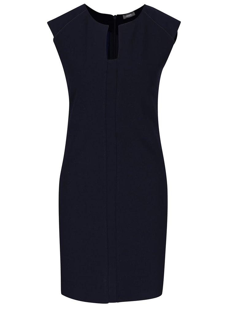 Tmavě modré šaty s tvarovaným výstřihem ZOOT