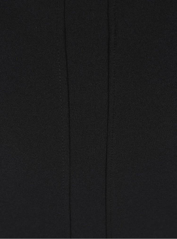 Černé šaty s tvarovaným výstřihem ZOOT