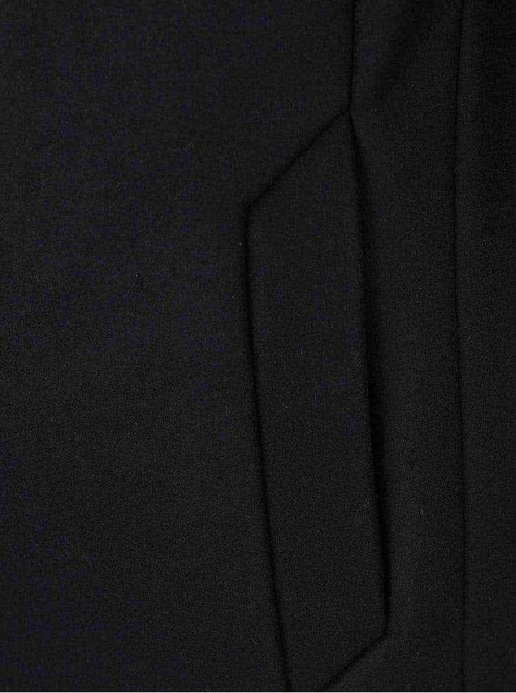 Palton negru Jack & Jones Gotham cu guler inalt