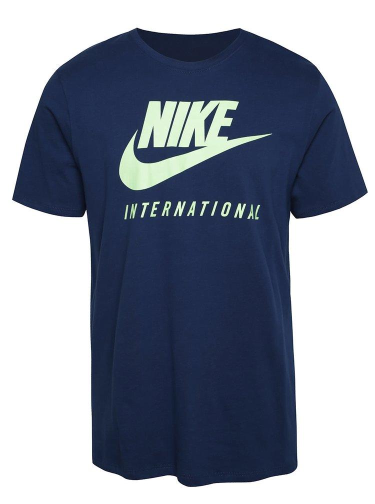 Tmavě modré pánské triko s nápisem Nike International