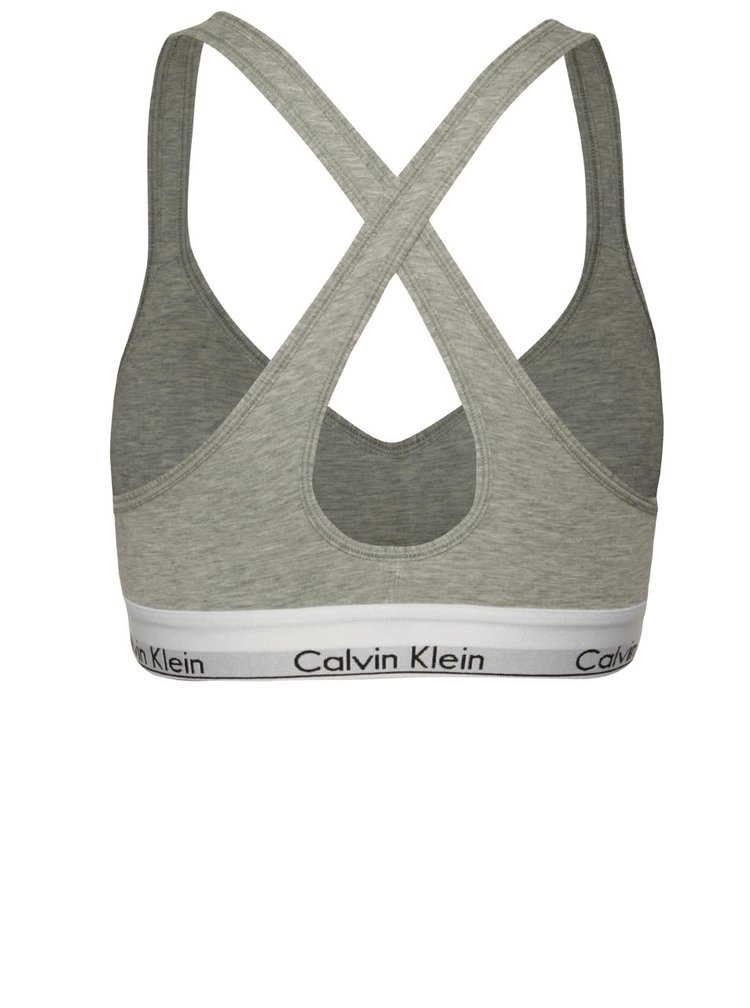 Bustiera gri cu logo Calvin Klein