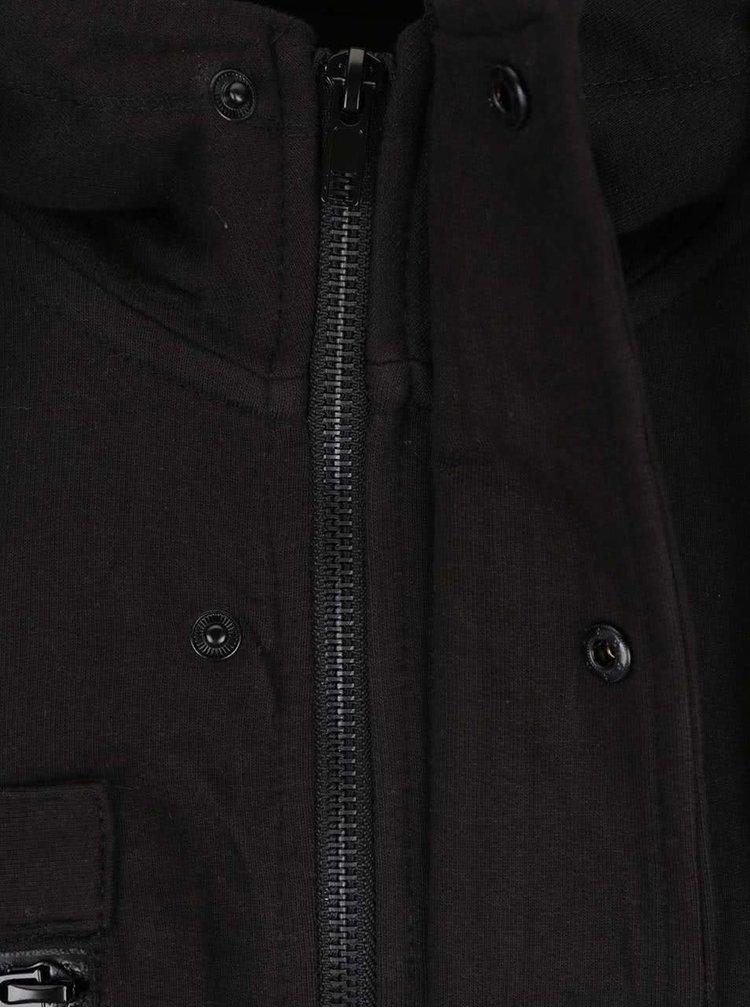 Černá propínací mikina s kapucí ONLY & SONS Baines