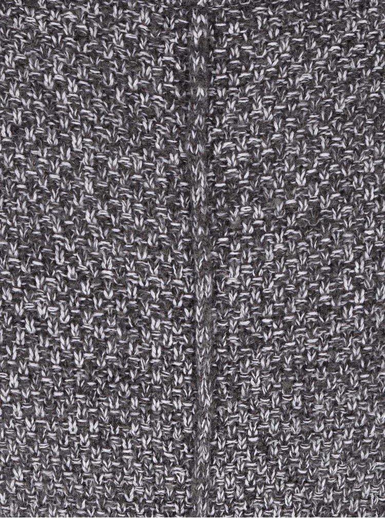 Šedý žíhaný svetr s nízkým rolákem ONLY & SONS Pablo