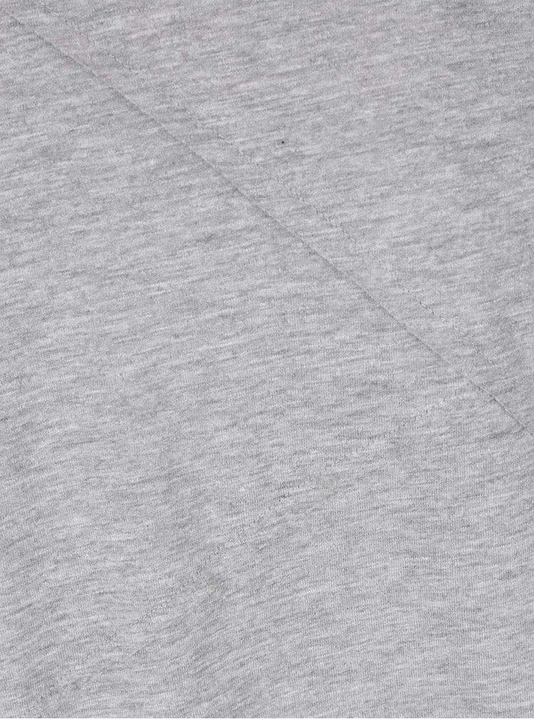 Šedé žíhané triko s dlouhým rukávem ONLY & SONS Timothy
