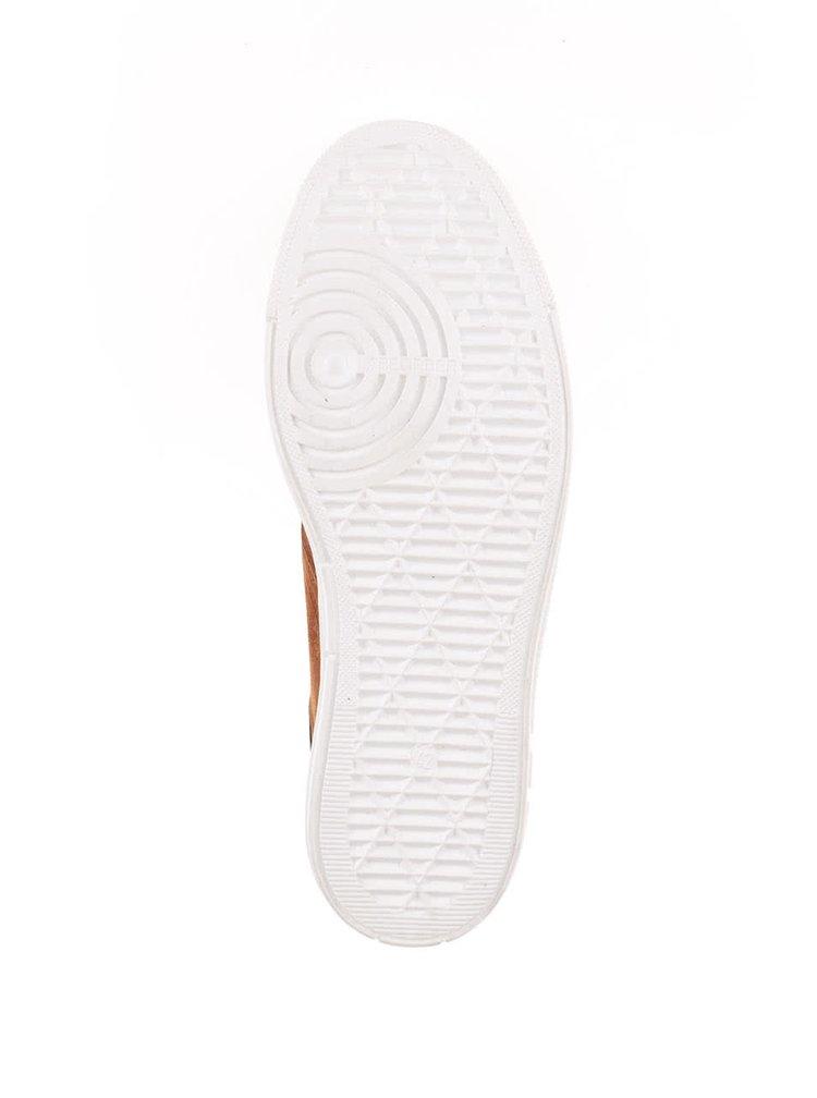 Hnědé pánské semišové kotníkové boty OJJU