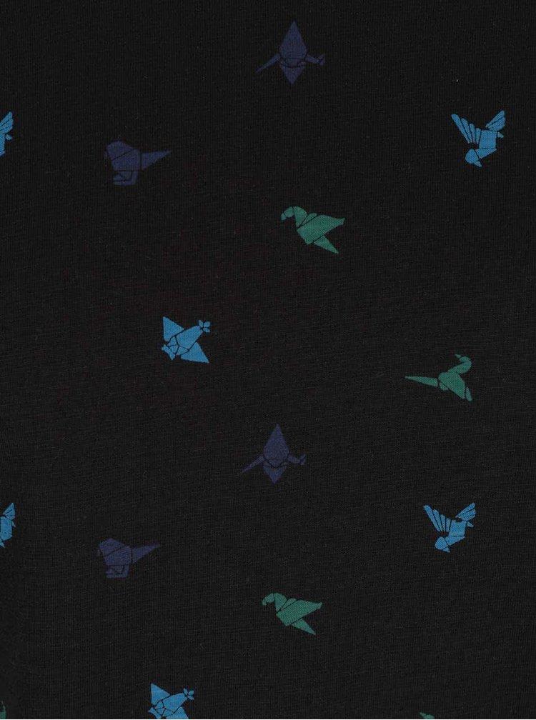 Černé triko s drobným vzorem ONLY & SONS Adave