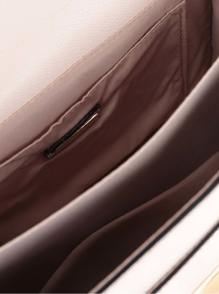 Krémová menší crossbody kabelka s detaily ve zlaté barvě ALDO Astirwen