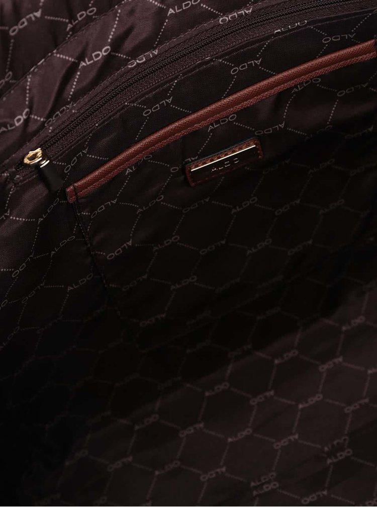 Hnědý shopper s detaily ve zlaté barvě ALDO Pentwater