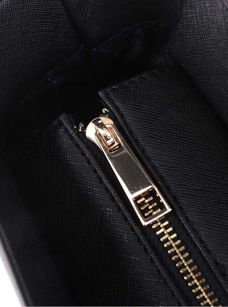 Černý shopper s detaily ve zlaté barvě ALDO Pentwater
