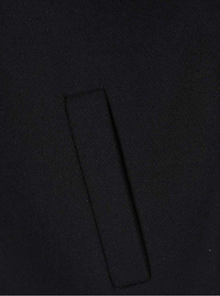 Čierny vlnený kabát ONLY & SONS Oscar