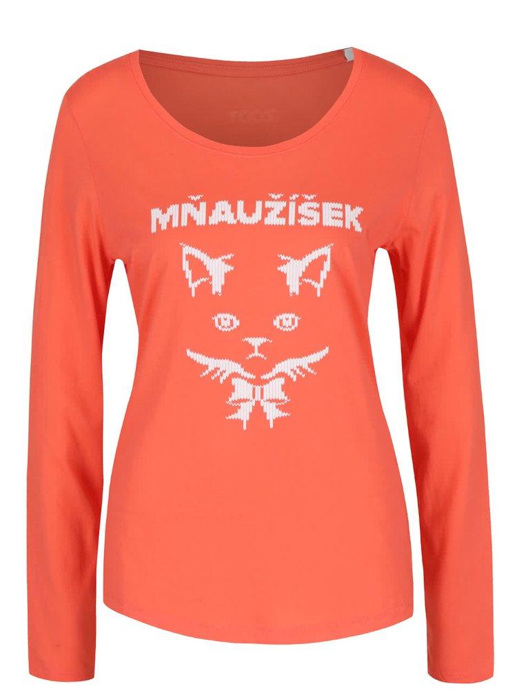 Červené dámské tričko s potiskem ZOOT Originál Mňaužíšek